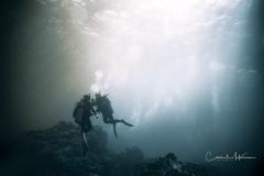 Divers at Hoover's Pinnacle